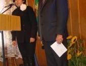 Prowadzący obchody p. Marek Bluj wraz z p. Dorotą Kwoka