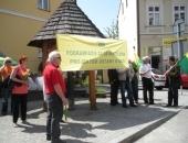 Działkowcy pikietujący w Rzeszowie